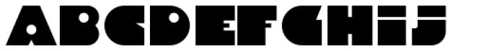 Danrex 300 Black Font LOWERCASE