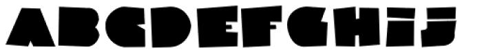 Danrex 500 Black Font LOWERCASE