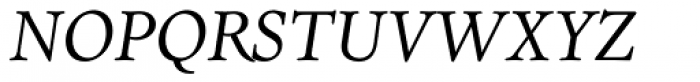 Dante MT Italic Old Style Figures Font UPPERCASE