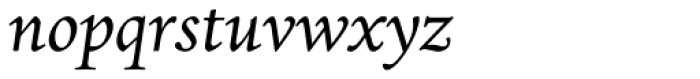 Dante MT Italic Old Style Figures Font LOWERCASE