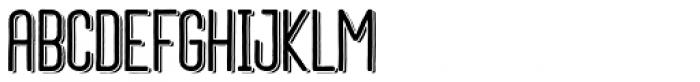 Daphne Bold Shadow Font UPPERCASE