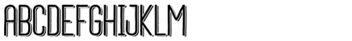 Daphne Medium Shadow Font UPPERCASE