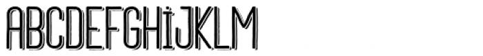 Daphne Medium Shadow Font LOWERCASE