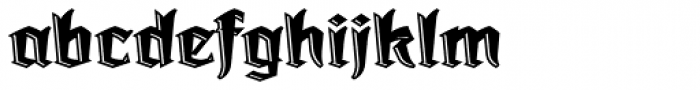 Dark Angel Underlight Font LOWERCASE