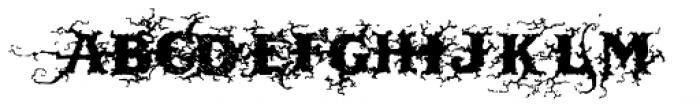 Dark Wood Font LOWERCASE