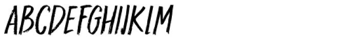Darker Marker Italic Font UPPERCASE