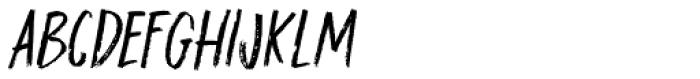 Darker Marker Italic Font LOWERCASE