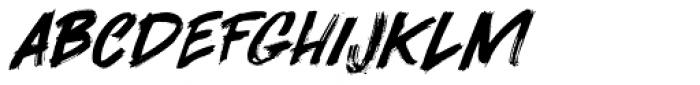Darkness Rising Extra Italic Font UPPERCASE