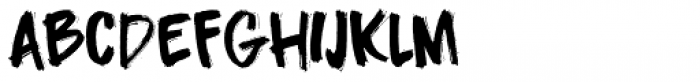 Darkness Rising Regular Font LOWERCASE