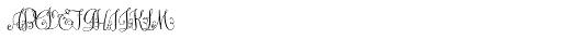 Darling Monograms (25000 Impressions) Font UPPERCASE
