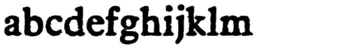 Darnalls Clean Bold Font LOWERCASE