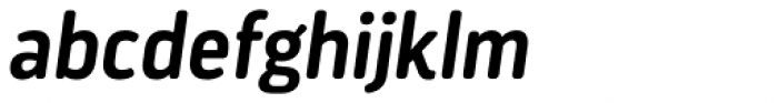 Darwin Essential Alt Rounded Semi Bold Italic Font LOWERCASE