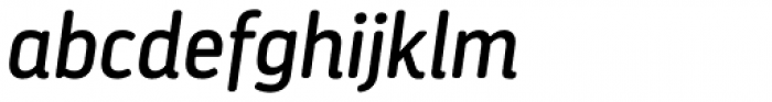Darwin Essential Rounded Regular Italic Font LOWERCASE