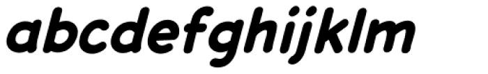 Dash Decent Bold Italic Font LOWERCASE