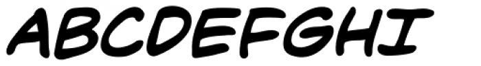 Dave Gibbons Bold Italic Font UPPERCASE