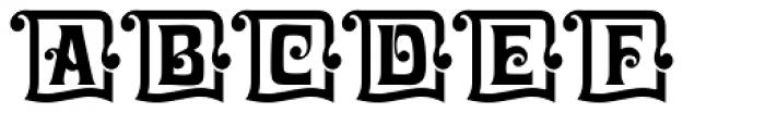Davida Initials D Font UPPERCASE