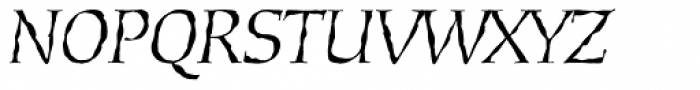 Daybreak Lx Italic Font UPPERCASE