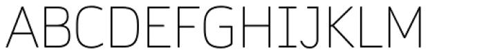 Daytona Pro Thin Font UPPERCASE