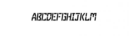 Dark Age Collection Enforce B Oblique Font UPPERCASE
