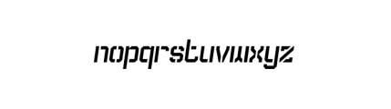 Dark Age Collection Enforce B Oblique Font LOWERCASE