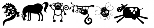 DB Animal Occasion Font UPPERCASE