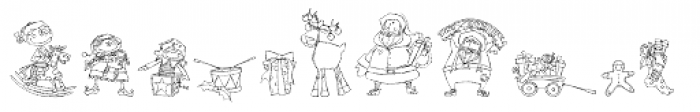 DB Christmas Doodles Font UPPERCASE
