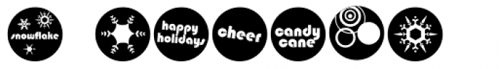 DB Circles - 'Tis The Season Font OTHER CHARS