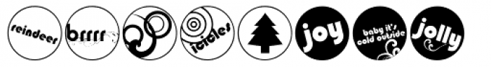 DB Circles - 'Tis The Season Font LOWERCASE