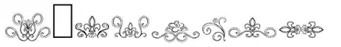 DB Fancy Flourishes Font OTHER CHARS