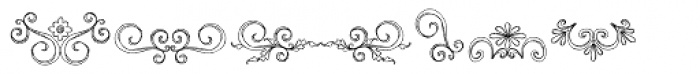 DB Fancy Flourishes Font UPPERCASE