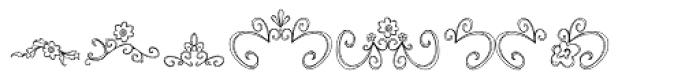 DB Fancy Flourishes Font LOWERCASE