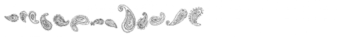 DB Frilly Paisley Font LOWERCASE