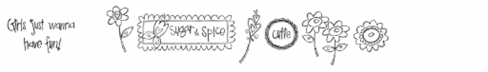 DB Girly Flowers Font OTHER CHARS