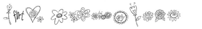 DB Girly Flowers Font UPPERCASE