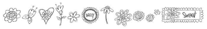 DB Girly Flowers Font LOWERCASE
