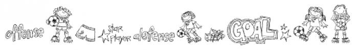 DB Girly Soccer Font UPPERCASE