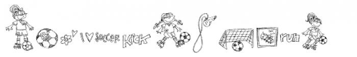 DB Girly Soccer Font LOWERCASE