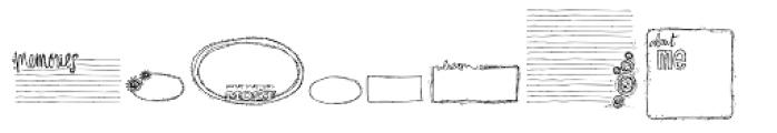 DB Journaling Boxes Font LOWERCASE