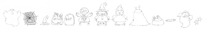 DB Spooky Doodles Font UPPERCASE