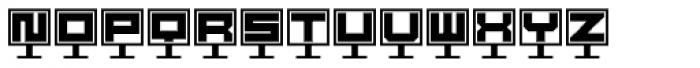 DBB Computer Screen Font UPPERCASE