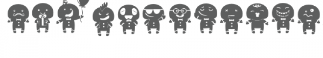 db gingerbread emoticons Font LOWERCASE