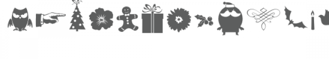 db holiday elements Font LOWERCASE