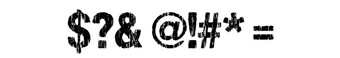 DCC-SharpDistressBlack Font OTHER CHARS