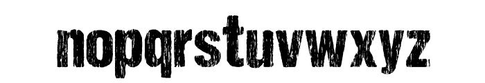 DCC-SharpDistressBlack Font LOWERCASE