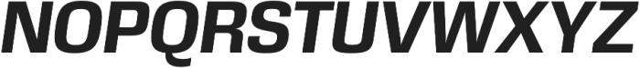 DDT Bold Italic otf (700) Font UPPERCASE