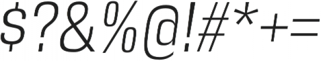 DDT Condensed Light Italic otf (300) Font OTHER CHARS
