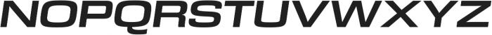 DDT Extended Bold Italic otf (700) Font UPPERCASE