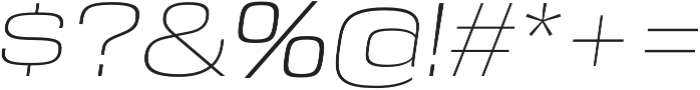 DDT Extended ExtraLight Italic otf (200) Font OTHER CHARS