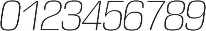 DDT ExtraLight Italic otf (200) Font OTHER CHARS