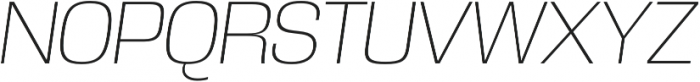 DDT ExtraLight Italic otf (200) Font UPPERCASE